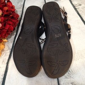42695d8629fc b.o.c. Shoes - B.O.C. Black Silver Braided Toe Palti Sandal 7M